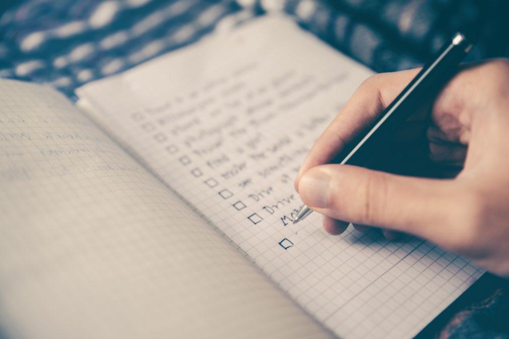 faire une checkliste pour le télétravail à domicile